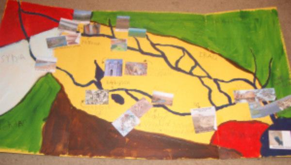 Mesopotamia, map, hands on activities
