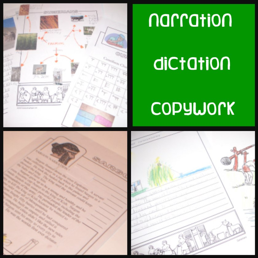 ancient mesopotamia, mesopotamia, unit study, narration, dictation, copywork