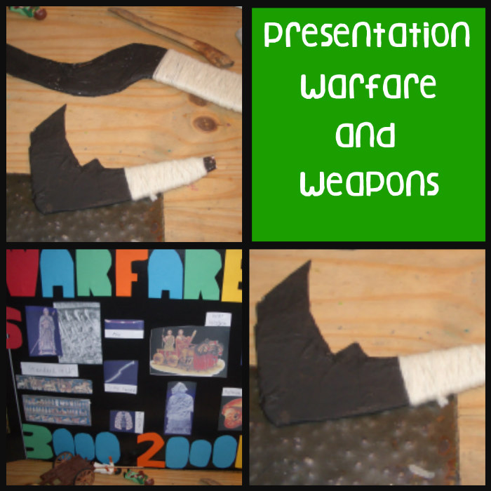 Mesopotamia, presentation, warfare, weapons