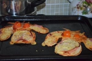 Into the oven for about 10 mins.....They were yummy!