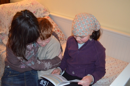 Reading a play together..