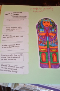 Our paper mummy, with instructions how to mummify