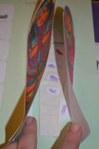 Inside the paper mummy was a mummified lolly stick!