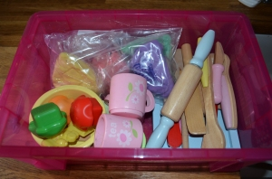 Our morning playdough box