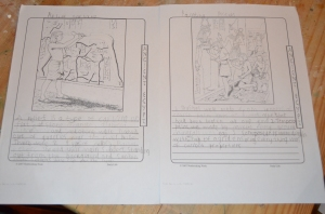 Notepages about reliefs and painting