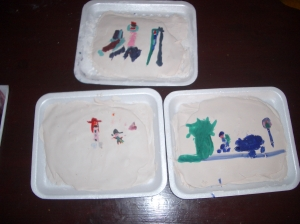 The paintings were quite small and difficult to make out.
