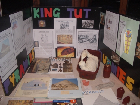 T did his presentation on mummification and in particular Tutankhamen