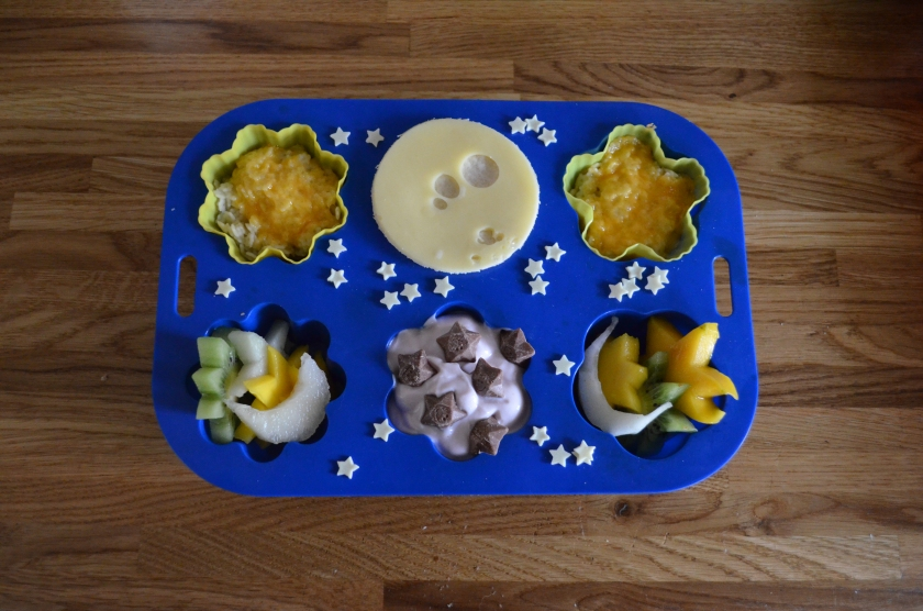 Our Goodnight Moon muffin tin meal