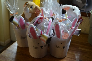 All 5 baskets ready to go