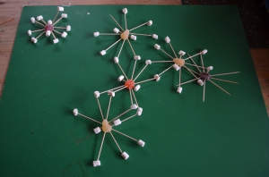 Sodium atom (top left) sitting next to the Bicarbonate molecule)