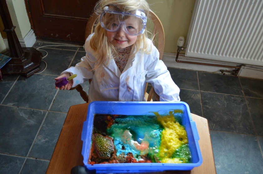 She loved seeing all the colours merging and producing new ones