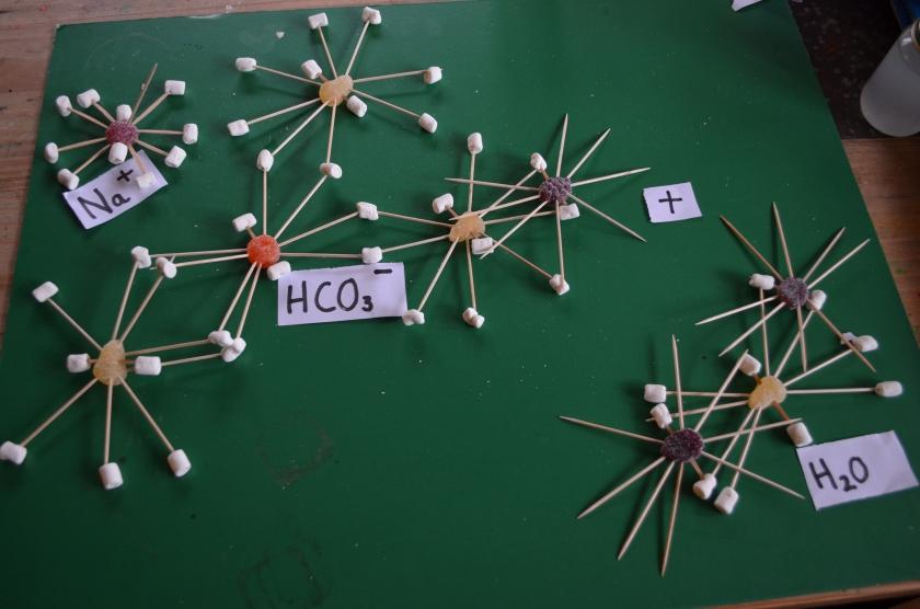 Sodium Bicarbonate plus water.....