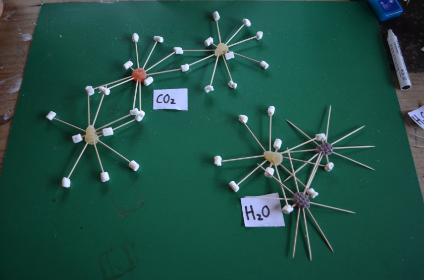 ....And the Carbonic acid breaks down into Carbon Dioxide and water