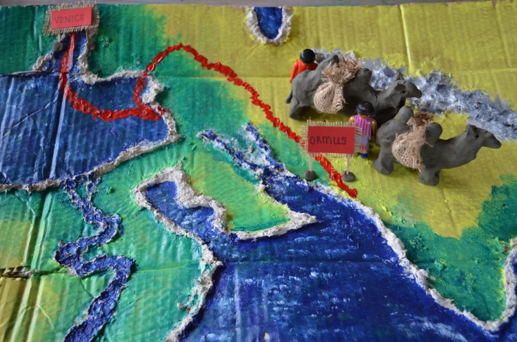 A close up of the route we have taken so far (The same route Marco Polo took!)
