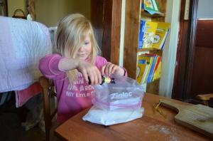 Adding food dye