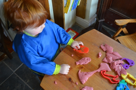 ...which she found possible but much harder than play dough!