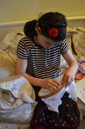 C10 trying her hand at chain stitch