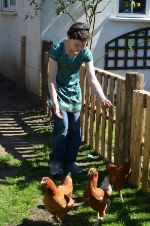 C10 herding her chickens in