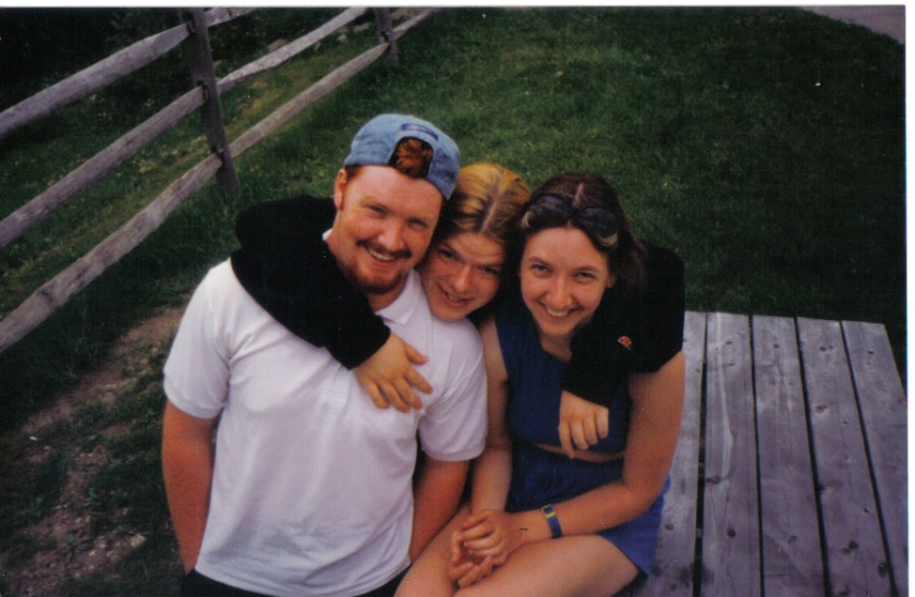 Gary, me (in the middle) and Jenny, one of our friends we met out there