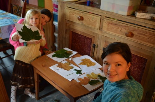 All the girls got together and made some lovely nature pictures which now adorn their bedroom walls