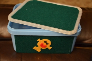 The completed box