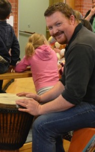 Gary accompanied the children on the cajon and djembe (drums)