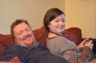 My gorgeous husband and equally lovely daughter