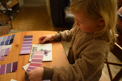 A5 then tried to find the closest match to the colour purple of Little Miss Naughty