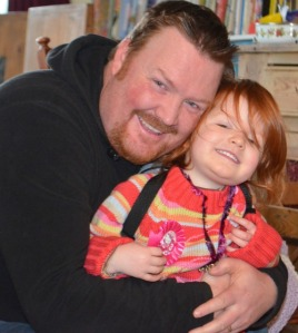 My gorgeous girl! (with her gorgeous daddy!)