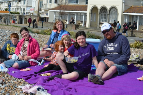 We prepared food enough for 500 and had a very tasty picnic at the beach