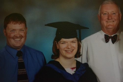 A very young Gary, me and Dad on my graduation from Nursing school