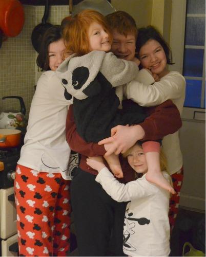 A birthday hug