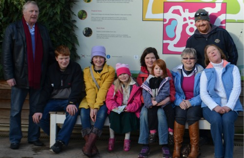 The whole family at Wisley