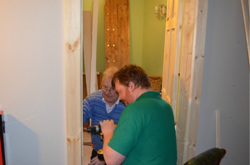 Finishing off the door fittings