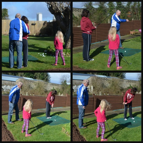 playing golf with Grandad