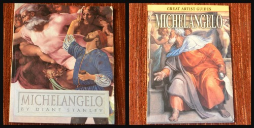 Ribbet collagetwo michaelangelo books