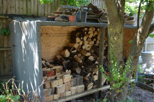 our growing log pile