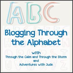 "Blogging Through the Alphabet"" style="