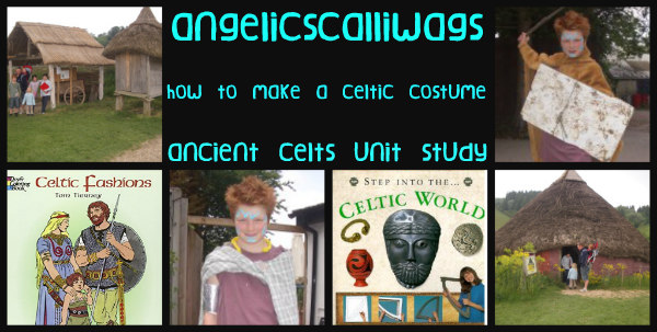 Ancient Celts-unit study-costume-hand made