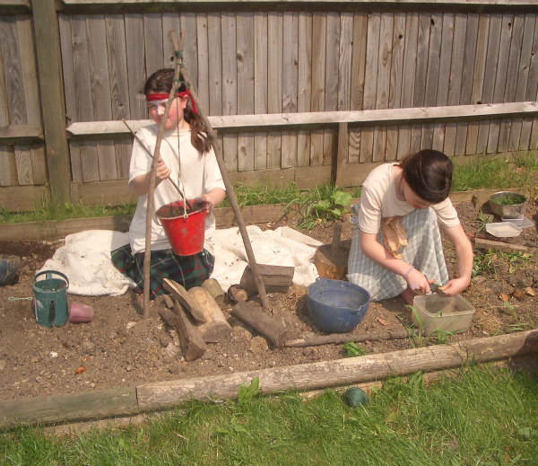 Ancient Celts-unit study-role play-cooking