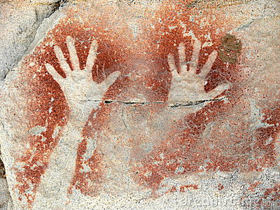 Australian-aboriginal-cave art-hands