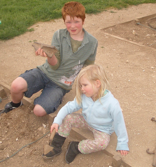 Butser Farm-celts-homeschool-field trip-archeological dig-clay chards