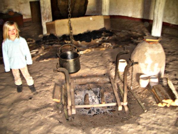 Butser Farm-celts-homeschool-field trip-interior of house