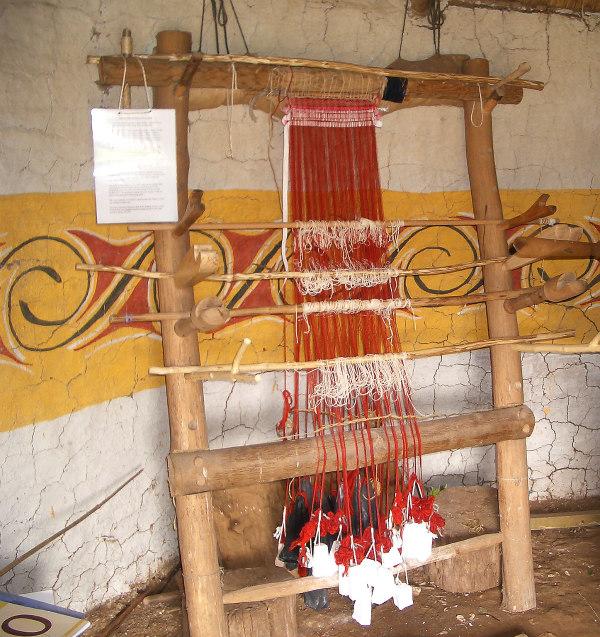 Butser Farm-celts-homeschool-field trip-weaving-loom