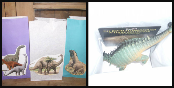Dinosaur party-take home bags