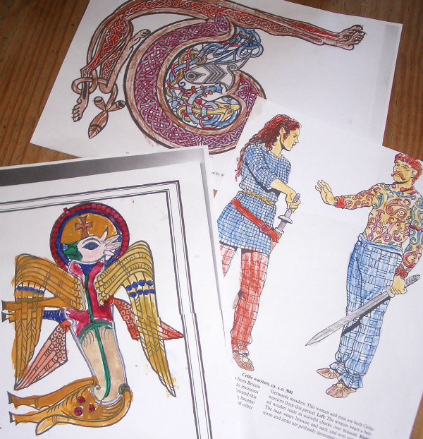 Ancient Celts-activities-colouring in
