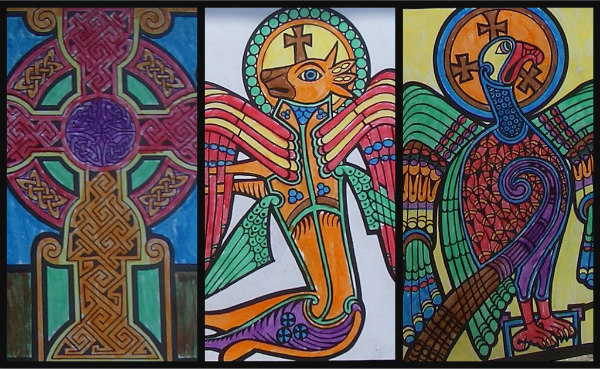 Ancient Celts, activities, stained glass windows