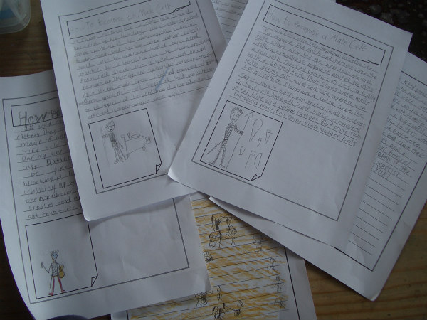 Ancient Celts-activities-writing assignments