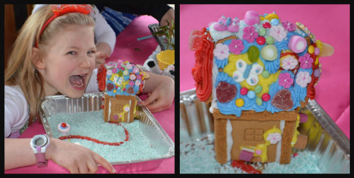 Flower fairy-party-gingerbread house