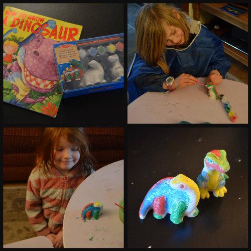 Unit study-dinosaur-hands on-paint